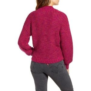 Band of Gypsies Sweaters - Band of Gypsies Glacee Ribbed Pink Sweater Small